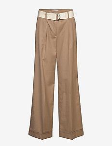 Gio Pants - hosen mit weitem bein - khaki