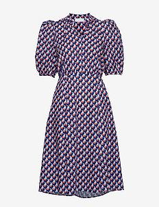Linh Long Dress - korte kjoler - boat print