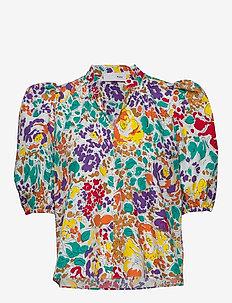 Linh Blouse - kortærmede bluser - floral print