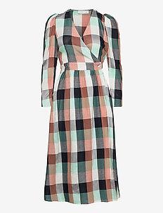 Donna Puff Dress - slå-om-kjoler - check
