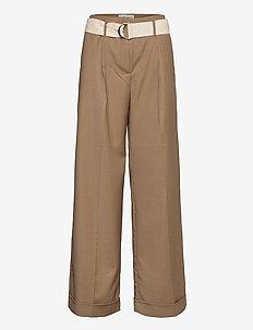 Gio Pants - bukser med brede ben - camel