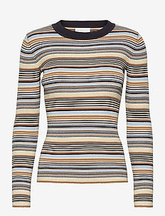 Nap Blouse - långärmade blusar - multi stripe