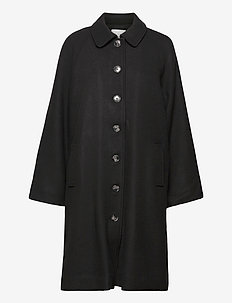 Payton Coat - wollen jassen - black