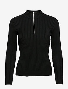 Sophia Half Zip - jumpers - black
