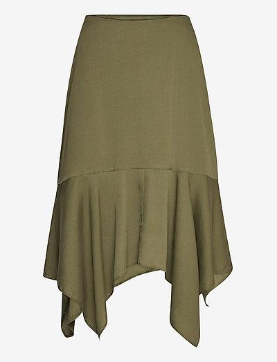 Dianna Skirt - midi nederdele - ivy green