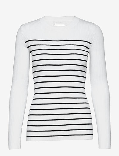 Nap Blouse - trøjer - white w. black stripes
