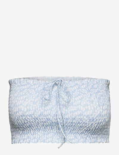 Eleanor Smock Top - crop tops - light blue eucalyptus