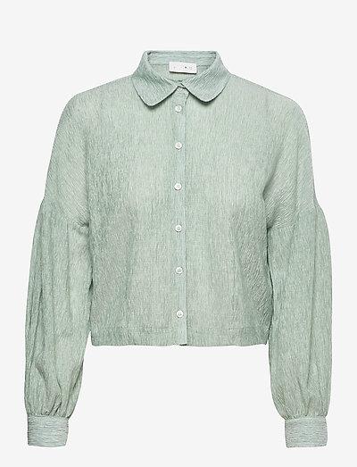 Theresa Shirt - denimskjorter - quiet green