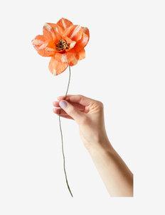 PAPER FLOWER, DAHLIA - dekorationer - red
