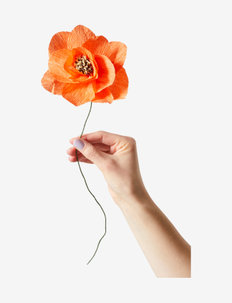 PAPER FLOWER, POPPY - dekorationer - red