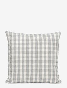 COT/LIN PILLOW - CREME GRID - coussins - creme grid