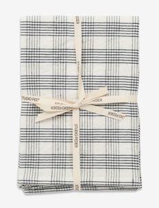 TEA TOWEL - CREME GRID - ręczniki kuchenne - creme grid