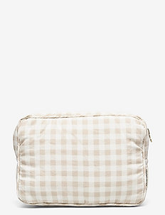 TOILETRY BAG - sacs - gingham oat
