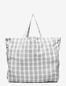 LARGE BAG - CREME GRID - sacs - creme grid