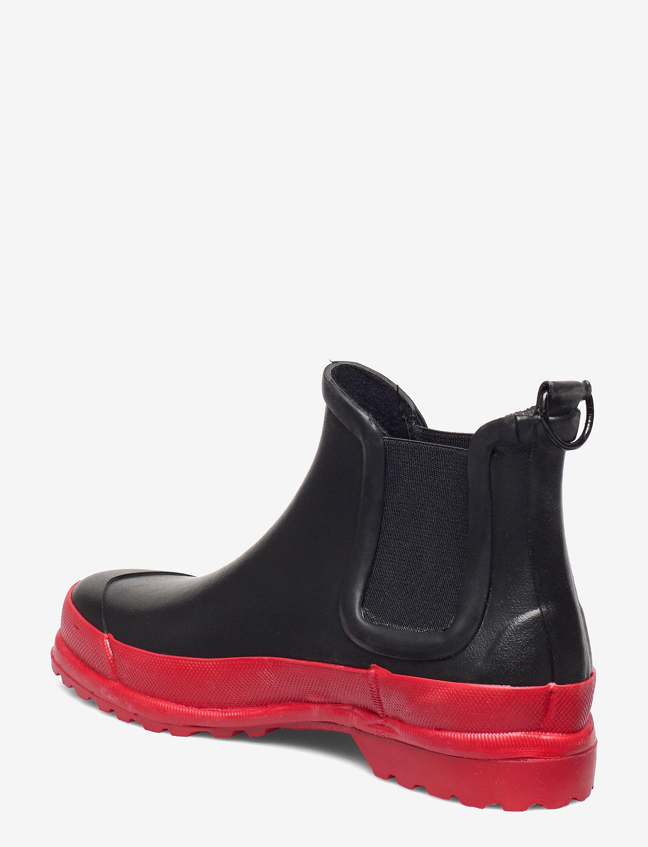 Stutterheim - Chelsea Rainwalker - chelsea boots - black/red - 2