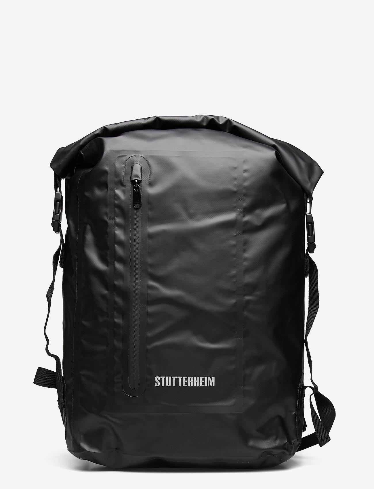 Stutterheim - Rain Rolltop - bags - black - 0