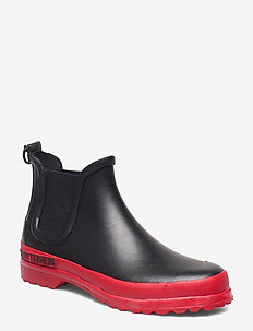 Chelsea Rainwalker - chelsea boots - black/red
