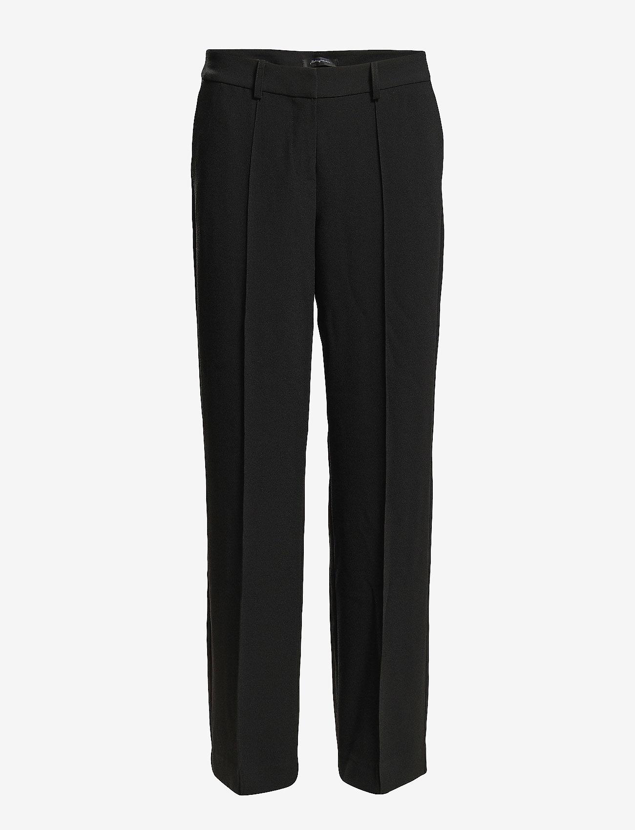 Stylein - BORIS TROUSERS - bikses ar taisnām starām - black - 1