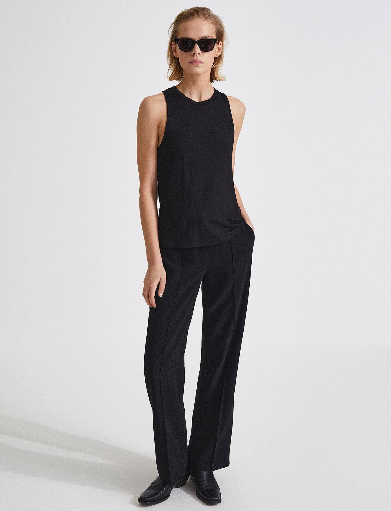 Stylein - BORIS TROUSERS - bikses ar taisnām starām - black - 0