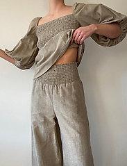 Stylein - SATINE - bukser med brede ben - beige - 0