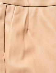 Stylein - VIVIEN TROUSERS - læderbukser - beige - 4