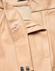 Stylein - VIVIEN TROUSERS - læderbukser - beige - 5