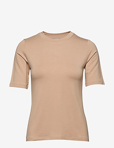 CHAMBERS TOP - basic t-shirts - nude