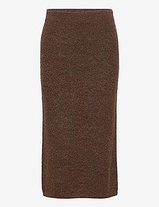 ELISHA SKIRT - midi kjolar - brown