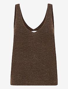 ETOILE TOP - gebreide t-shirts - brown
