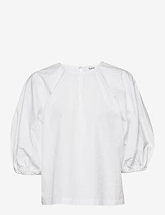 JULIUS TOP - kurzämlige blusen - white