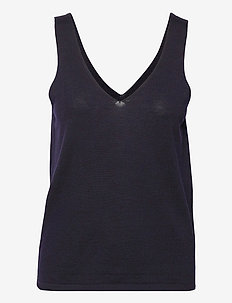 REZE TOP - t-shirts & toppe - navy