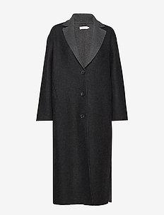 TERRA COAT - wełniane płaszcze - grey