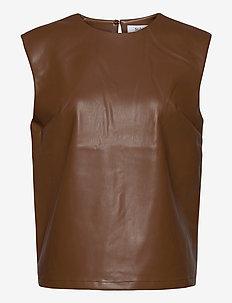 VIDAR TOP - bluzki bez rękawów - brown