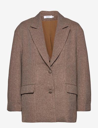 BACKE TWILL BLAZER - oversize blazer - brown