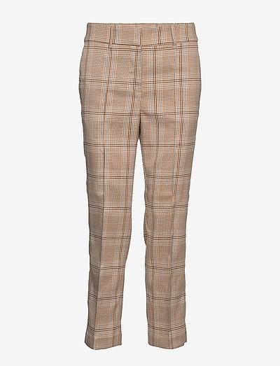 BEN TROUSERS - pantalons droits - check