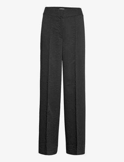 BILL TROUSER - pantalons droits - black