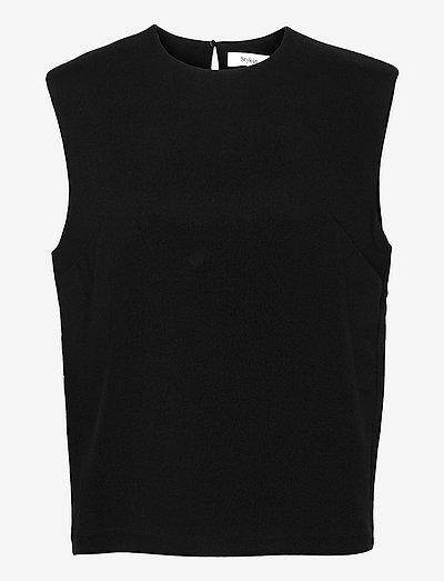BONA TOP - ermeløse bluser - black