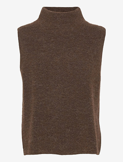 ELLI SWEATER - hauts tricotés - brown
