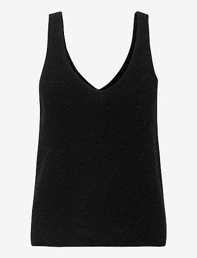 ETOILE TOP - ermeløse topper - black