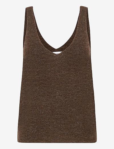 ETOILE TOP - sleeveless tops - brown