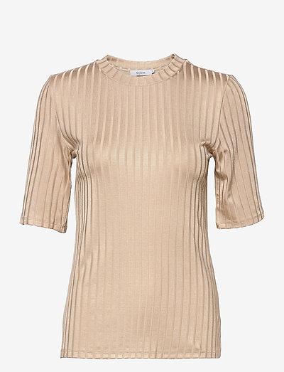 PAIR TOP - t-shirts - beige