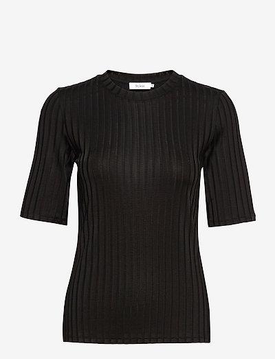 PAIR TOP - t-shirts - black