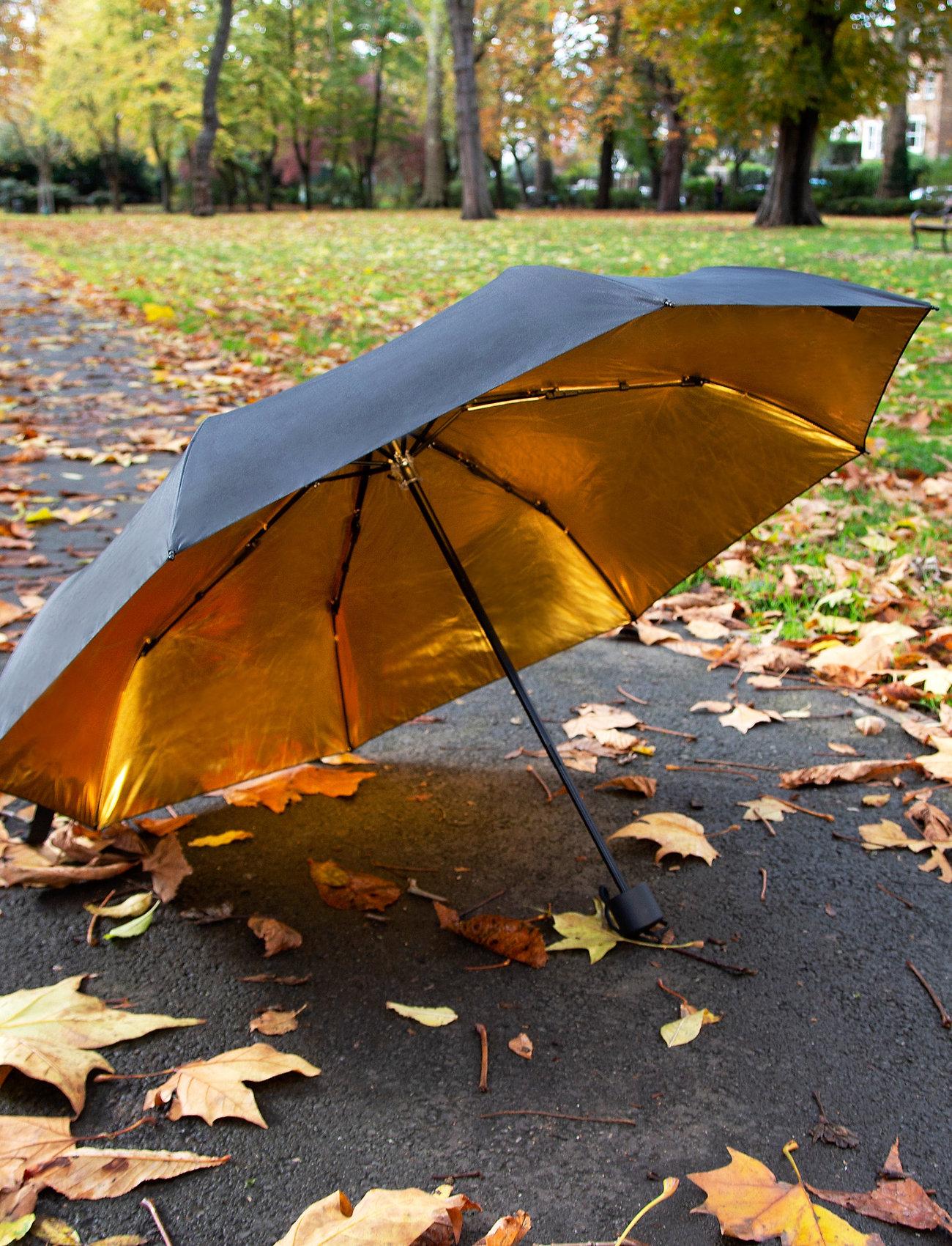 Suck UK - Black & Gold Umbrella - paraplyer - black - 0