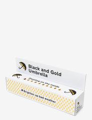 Suck UK - Black & Gold Umbrella - paraplyer - black - 3