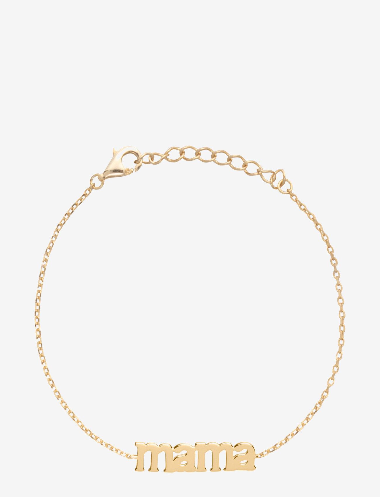 Sui Ava - Mama Text Bracelet - dainty - gold - 0