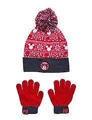 SET 2 PCS HAT & GLOVES - RED