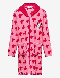 CORAL DRESSING GOWN - bathrobes - pink