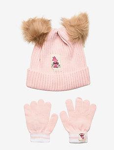 SET 2 PCS HATS & GLOVES - hats - lpink
