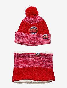 SET 2 PCES CAP - RED