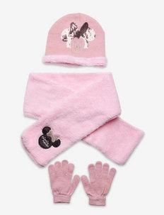 GLOVES - hue & vanter sæt - pink
